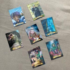 Bundle of seven Harry Potter chocolate frog cards